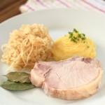 Rippchen mit Sauerkraut und Püree