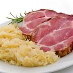 Solperfleisch mit Sauerkraut