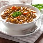 frischer Linseneintopf / fresh lentil stew